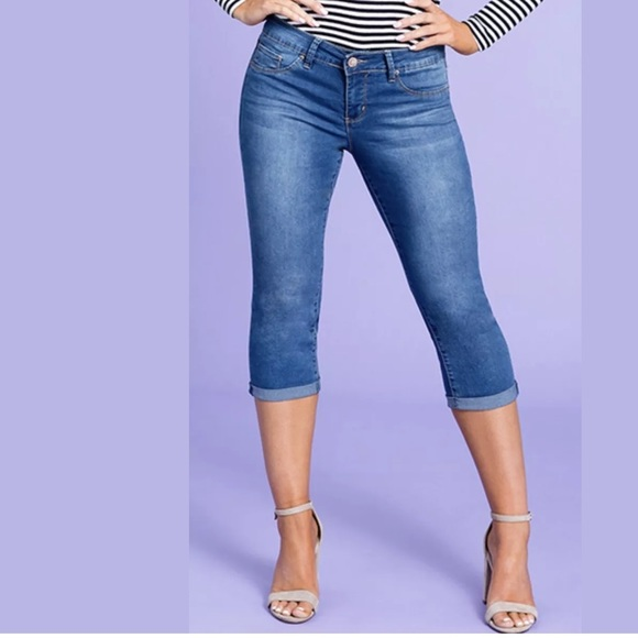 ae8411bff1 Royalty For Me Pants | Womens Mid Rise Cuffed Capri Jeans | Poshmark